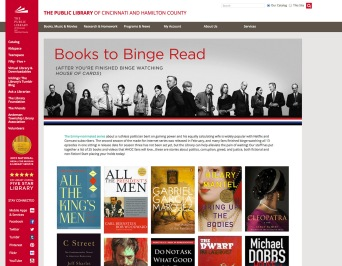 House of Cards-inspired Booklist Webpage