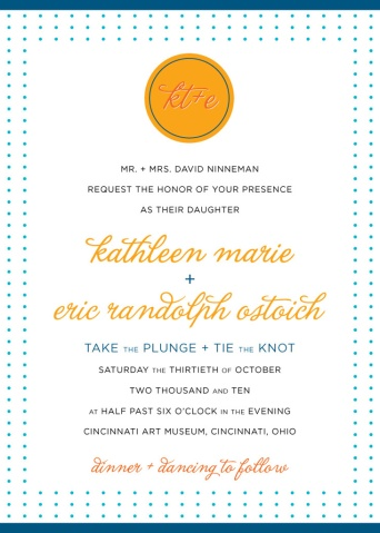 KT+E Wedding Invitation