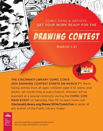Cincinnati Library Comic Con 2014 Drawing Contest Email